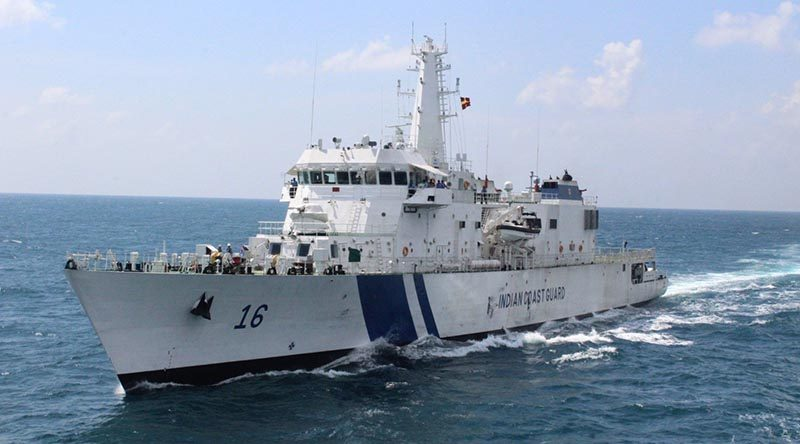 Indian Coast Guard Ship Shaurya. Supplied.