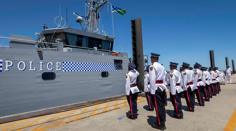Australia gifts new patrol boat to Solomon Islands