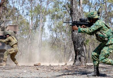 Bruneian soldiers finish exercising in Brisbane
