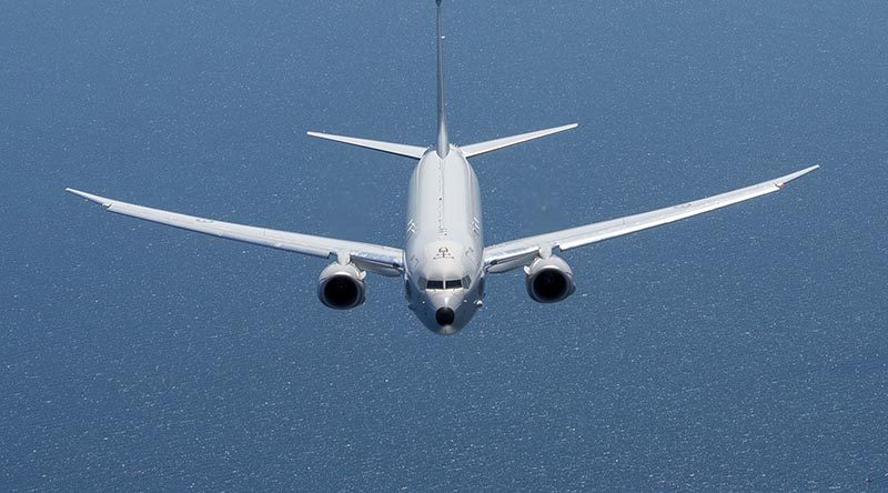 A P-8A Poseidon off the South Australian coast. Photo by Corporal Bill Solomou.