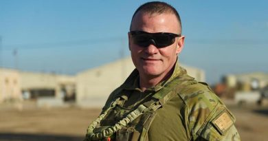 Major Anthony Bartlett at the Taji Military Complex, Iraq. Photo by Captain Roger Brennan