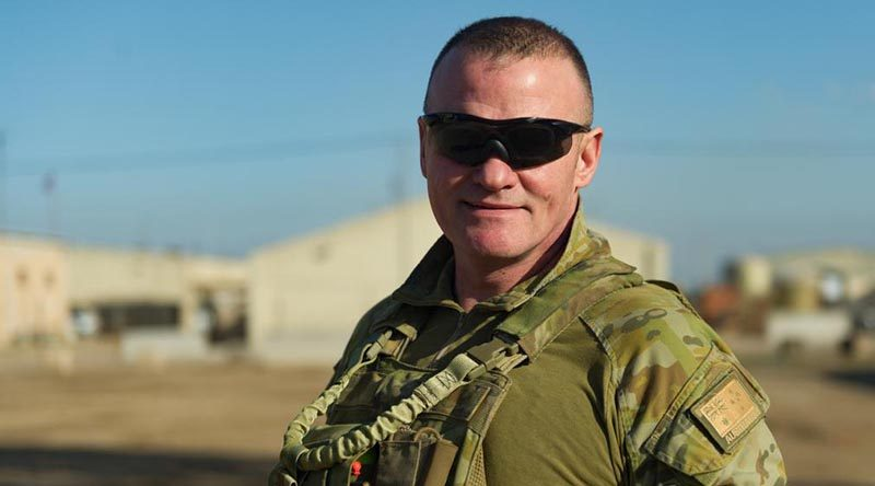 Major Anthony Bartlett at the Taji Military Complex, Iraq. Photo by Captain Roger Brennan