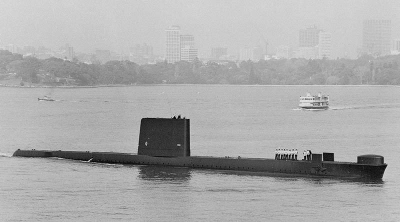 HMAS Otama in Sydney Harbour. Photo by Marius Bar Toulon.