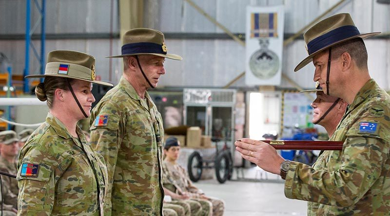 Major General Susan Coyle takes command of Joint Task Force 633 in the Middle East.