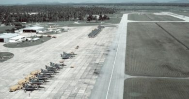 RAAF Mirage fighters at Butterworth in the 1960s.