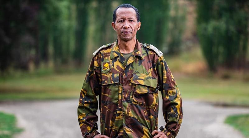 "Major Francis Fabilia, a Deputy Supply Officer from Port Moresby, says, ""It's a privilege to be given the opportunity to assist, especially as Australia is usually responding to our disasters. I'm honoured to come over here and return the favour""."