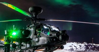 An Apache helicopter from 656 Squadron, 4 Regiment Army Air Corps, on exercise within the Arctic Circle. British Army photo.