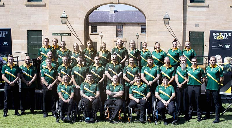 The 2020 Australian Invictus Games team at the team announcement, Victoria Barracks, NSW. Photo by Leading Seaman Jayson Tufrey.