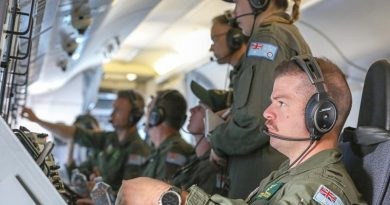 Members from No. 11 Squadron carry out a mission on a P-8A Poseidon during Operation Bushfire Assist 19-20. The mission flew over 10 hours and included surveillance of the Victorian alpine region, country New South Wales and Kangaroo Island in South Australia. Photo by Corporal Brenton Kwaterski.