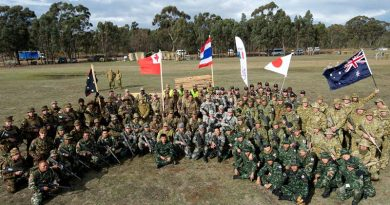 Australian and international participants at AASAM 2013. Photo by Sergeant John Waddell.