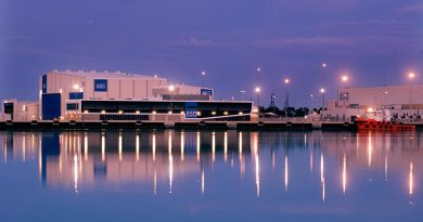 ASC shipbuilding facilities in Osbourne, South Australia. ASC image.