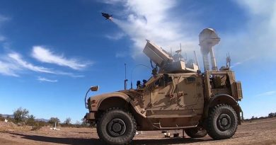 The Coyote® Block 2 counter-drone weapon and KuRFS radar worked together to detect and engage a target in a recent test over the US Army Yuma Proving Ground, Arizona. US Army photo.