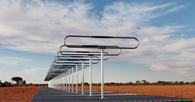 Silentium Defence's MAVERICK S-series passive radar installed on the Woomera Test Range, South Australia, as part of the RAAF's Spacefest 2019. Silentium Defence image.