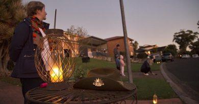 ANZAC Day 2020 in Kiama Downs NSW. Photo by Brian Hartigan.