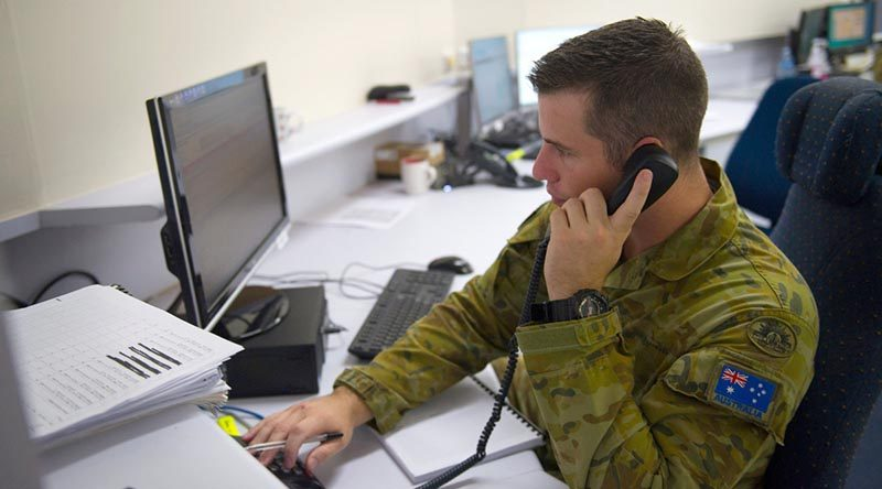 Australian Army soldier Gunner Thomas Wright assists with COVID-19 'contact tracing'. ADF contact tracing teams work with authorities in states and territories to help trace and understand the spread of COVID-19 in the community. Photo by Captain Carla Armenti.