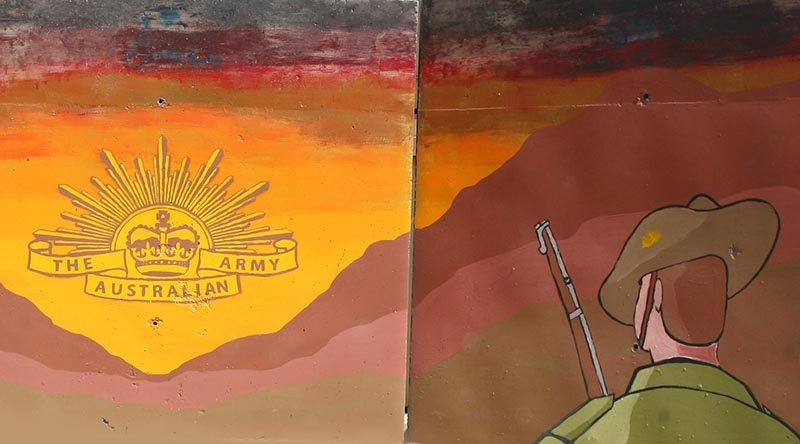 T-wall art at Tarin Kot, Afghanistan.