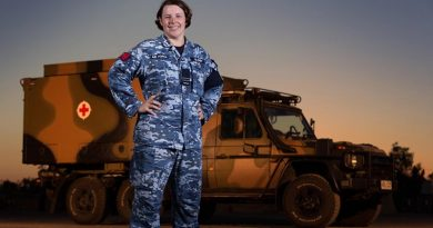 RAAF nursing officer Flight Lieutenant Amanda Gloury during Exercise Talisman Saber 17. Photo by Corporal David Said.