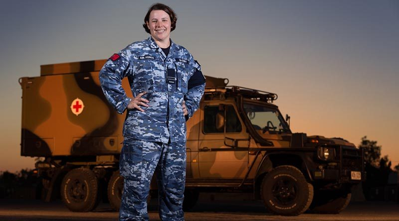 RAAF nursing officer Flight Lieutenant Amanda Gloury during Exercise Talisman Saber 17. Photo by Corporal David Said.