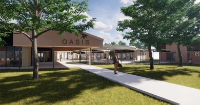 The Oasis Townsville, veteran wellbeing centre artist's impression.