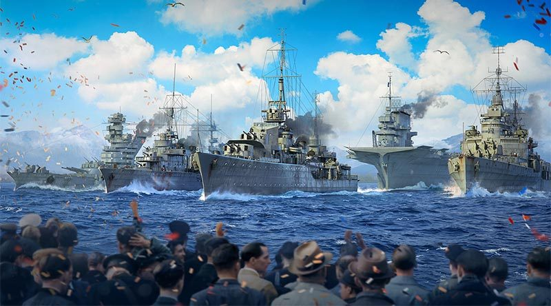 World of Warships naval review for VE Day 75th anniversary