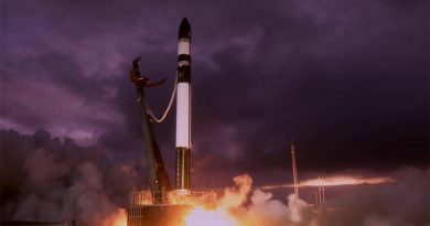 "Rocket Lab's ""Don't Stop Me Now"" 12th mission from New Zealand's Māhia Peninsula, takes another Aussie-made satellite into space. Photo supplied."