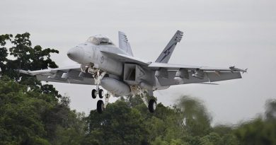 No. 82 Wing Training Flight is a trial to deliver aircrew operational conversion training in the Super Hornet aircraft in Australia. Photo by Corporal Colin Dadd.