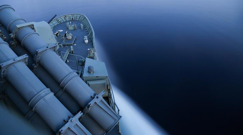 HMAS Stuart. Photo by Able Seaman Kayla Hayes.