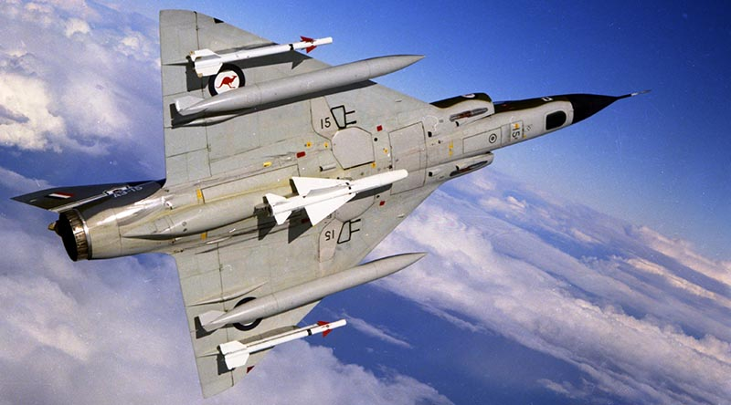 ARoyal Australian Air Force Mirage III from 77 Squadron.