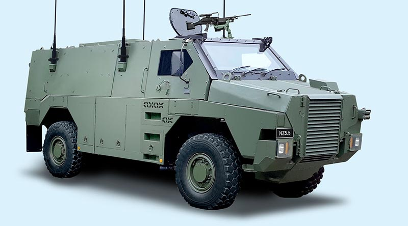 Artist's impression of New Zealand's new Bushmaster.