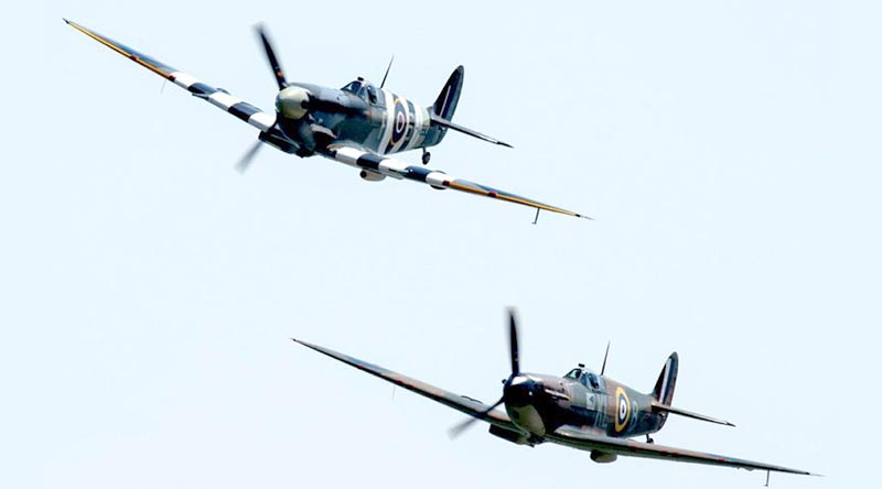 Royal Air Force Battle of Britain Memorial Flight Spitfires. Photo by LPhot Ben Corbett. UK MoD photo. Crown copyright.