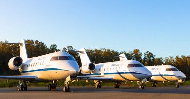 Retired RAAF Bombardier Challenger 604 now in service with RACQ LifeFlight Rescue. Photo courtesy RACQ LifeFlight Rescue.