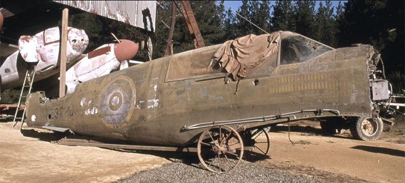 A Lockheed Hudson bomber rolled out of John Smith's shed. Courtesy Omaka Aviation Heritage Centre.