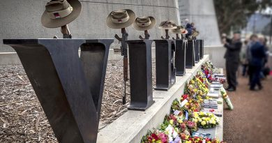 Vietnam Veterans' Day held at the Vietnam Memorial in Canberra. Photo by Leading Seaman Nadav Harel.