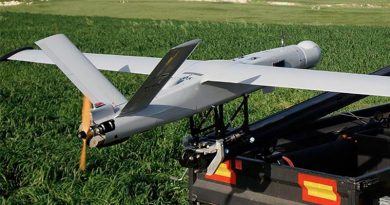 A BlueBird Aero Systems ThunderB UAV powered by a Currawong Engineering engine. BlueBird Aero Systems photo.