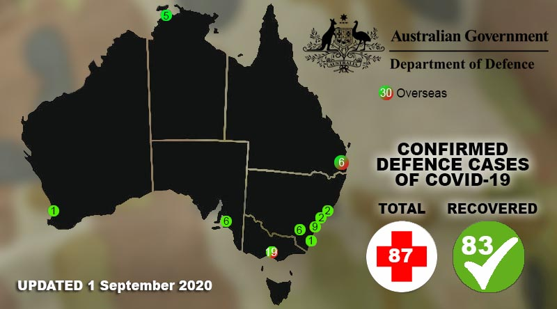 Defence's COVID-19 case map