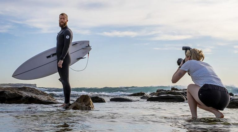 Imagery specialists shoot surfers in dual training