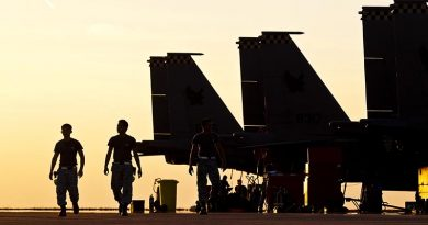 Republic of Singapore Air Force personnel work on RAAF Base Darwin's flightline during Exercise Pitch Black 2014. Photo by Corporal David Said.