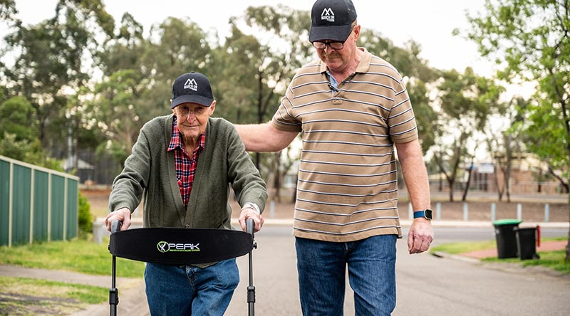 WWII veteran and proud father Segeant Bert Le-Merton was accompanied by his son Trent as he continued his March On Challenge to raise money for veterans and their families.