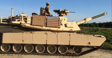 US Army Abrams tank fitted with Kongsberg low-profile RWS. Image supplied by Kongsberg.