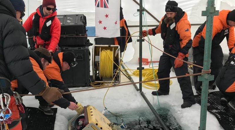 NZDF personnel test equipment during a training exercise at Lake Alta in the Remarkables mountain range near Queenstown in preparation for deploying to Antarctica this summer. NZDF photo.