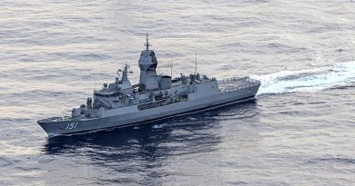 HMAS Arunta on her East Asia Deployment 2020. Photo by Leading Seaman Jarrod Mulvihill.