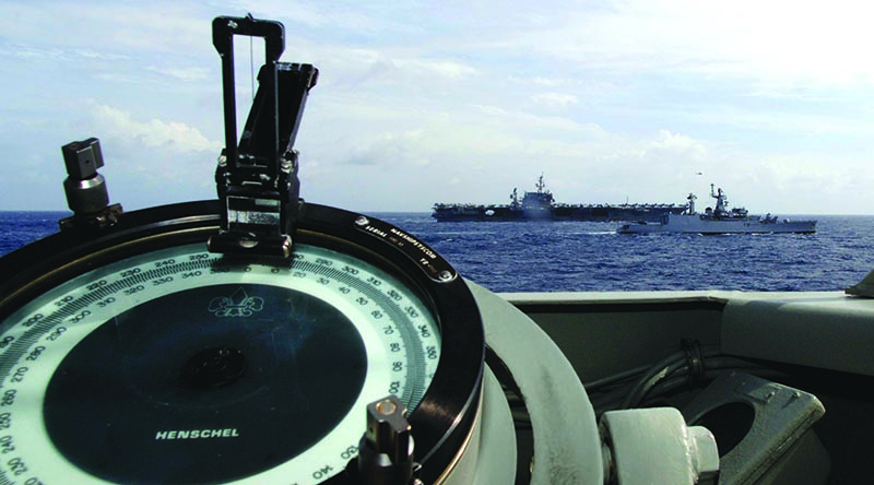 Exercise Malabar 2007 action in the north-west Indian Ocean as seen from HMAS Adelaide. Photographer unknown.
