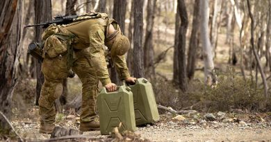 An Australian Army staff cadet grabs a brief rest during Exercise Shaggy Ridge at Majura Training Area in Canberra, ACT. Photo by Signalman Robert Whitmore.
