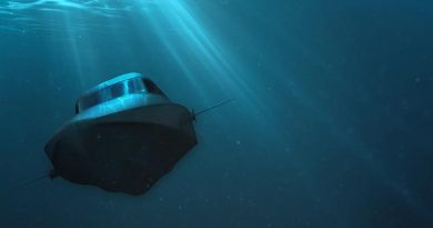 An artist's impression of the VICTA surface-submersible watercraft in action. Supplied.