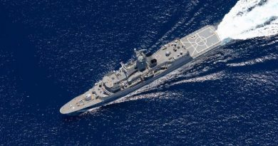 HMAS Ballarat in the Indian Ocean en route to participate in Exercise Malabar. Photo by Leading Seaman Shane Cameron.