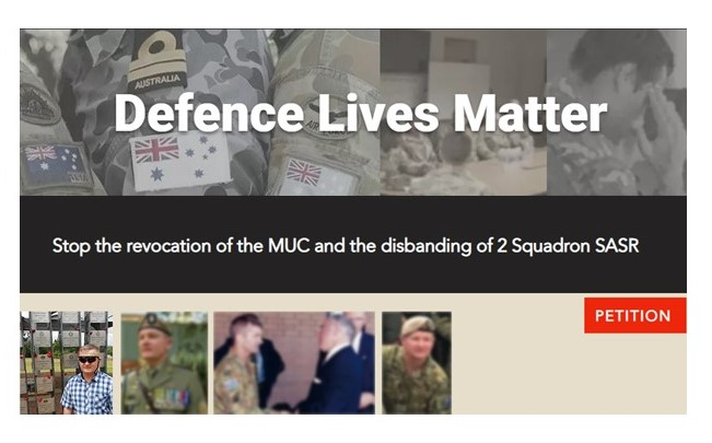 """Former RSM SOTG VI says """"Stop the revocation of the MUC and the disbanding of 2 Squadron SASR"""""""