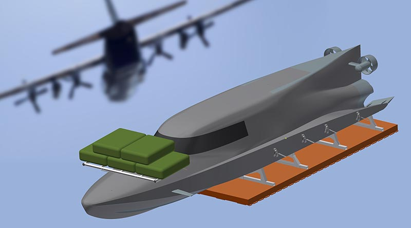 Subsea Craft VICTA rigged for airdrop.