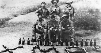 Aussie soldiers in New Guinea during World War II