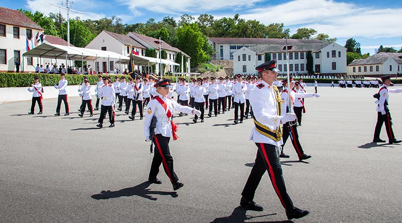The 137th Graduating Class from the Royal Military College – Duntroon march off the parade ground for the final time. Photo by Sergeant Glen McCarthy.