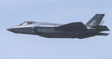 F-35 009 at RAAF Base Williamtown. Photo by Brian Hartigan.